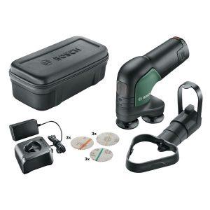 Bosch DIY Easy Curv Sander 12 Slip- och polermaskin med 2,5Ah batteri och laddare