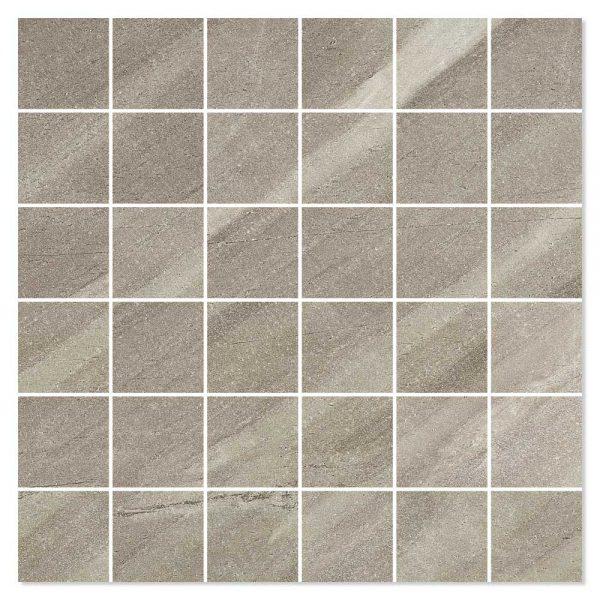 Burlingstone Mosaik Klinker Brun 5x5 cm (30x30 cm)