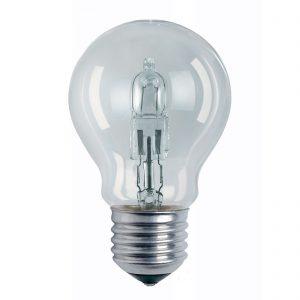 E27 77W klar halogenlampa Classic A päronform