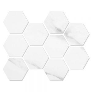 Hexagon Mosaik Klinker Duomo Vit 21x30