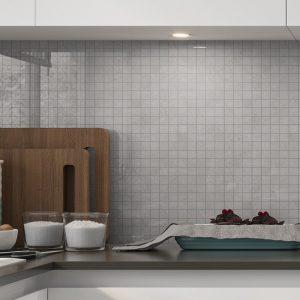 Marmor Mosaik Klinker Altamura Grå Polerad 30x30 (2.5x2.5) cm
