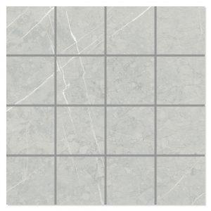 Marmor Mosaik Klinker Altamura Grå Polerad 30x30 (7x7) cm