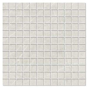 Marmor Mosaik Klinker Altamura Ljusgrå Polerad 30x30 (2.5x2.5) cm