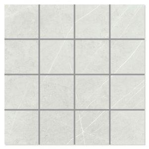 Marmor Mosaik Klinker Altamura Ljusgrå Polerad 30x30 (7x7) cm