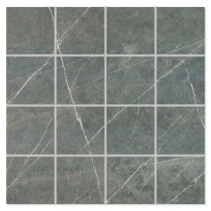 Marmor Mosaik Klinker Altamura Mörkgrå Polerad 30x30 (7x7) cm