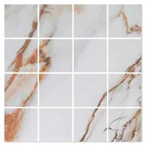 Marmor Mosaik Klinker Armento Antic Polerad 30x30 (7x7) cm