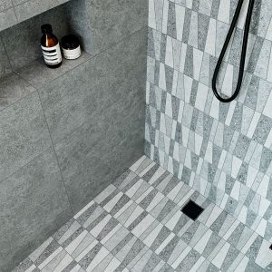 Mosaik Klinker Roadstone Mix Grå Matt 30x30 (7x7) cm