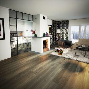 Parkettgolv Forbo Ek Design Plank Oljad Grey Borstad Fas