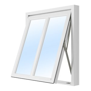 Vridfönster med bågpost - 2-glas - Trä