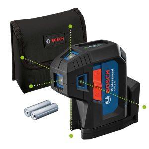 Bosch GPL 5 G Punktlaser grön, med batterier och väska